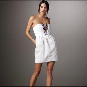 Shoshanna cotton embellished Mini Dress